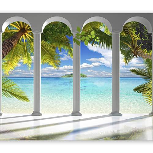 murando - Fotomurali adesivi Oceano 392x280 cm - carta da parati audoadesiva - carta da parati moderna - fotomurale - carte da parati -tropicale c-C-0182-a-a