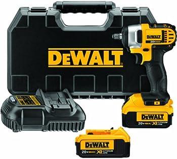 Dewalt 20V MAX Cordless Impact Wrench Kit with Hog Ring