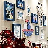 KAUTO 10 Juegos de Marco de Fotos de Familia, Marco de Fotos de Collage, Marco de Fotos Creativo para Sala de Estar, Restaurante, Club, para Sala de Estar Mural