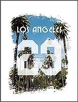 【FOX REPUBLIC】【ロサンゼルス ロゴ ヤシの木 ブラシ】 白光沢紙(フレーム無し)A4サイズ