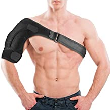Shoulder Brace - Compression Sleeve for Rotator Cuff Pain Relief, Adjustable Support for Men and Women, Pressure Pad for hot or ice Pack for Shoulder Impingement Syndrome, Arthritis,Tendonitis