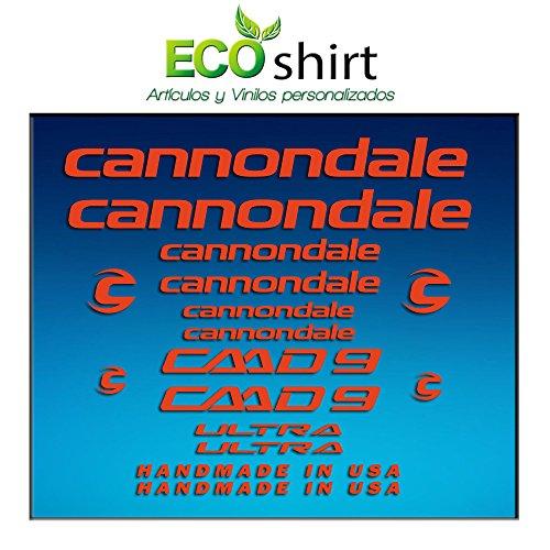 Ecoshirt KE-MPTK-9V7G Aufkleber Bild Rahmen Cannondale CADD 9 Am27 Stickers Aufkleber Decals Adesivi Bike BTT MTB Cycle, Rot