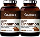 2 Pack Ceylon Cinnamon 1200mg Per Serving, 180 Capsules, Made with Organic Ceylon Cinnamon for Sugar Metabolism, Heart Function and Joint Health, Non-GMO