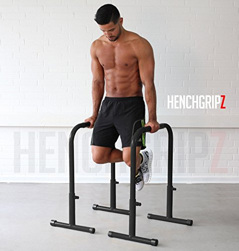 Photo of HENCHGRIPZ 73/83/93cm Adjustable Height Parallel Dip Bars | Parallettes | Gymnastic Bars | Dip Station | Dip Machine | MMA