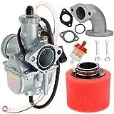 VM22 26mm Carburetor Carb Intake 38mm air filter for XR50 CRF70 KLX BBR RFZ Braaap Atomic DHZ SSR 110cc Tao Tao Coolster 125cc 140cc Lifan YX Zongshen Apollo x15 x18 dbx125 Thumpstar Pit Dirt Bike