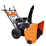 VANLAMP Snow Blower, Gasoline Small Electric Snow Removal Machine with Snow Tire and Lighting for Road Surface 6.5HP 4.8 KW, 6.5hp