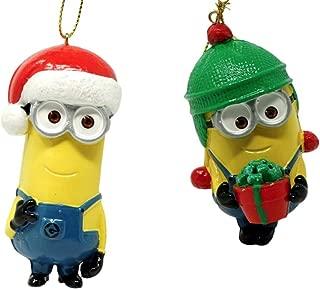 Illumination Entertainment Despicable Me Ornaments Set, Bob The Minion and Stuart The Minion, 2 Pack