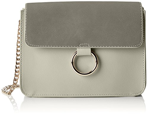 PIECES Damen Pcgry Cross Body Umhängetasche Silber (Alloy)