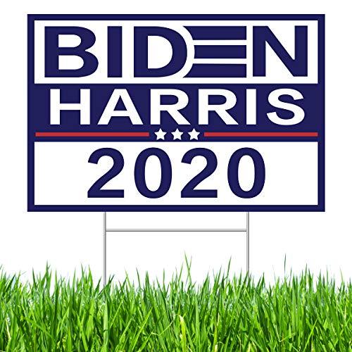 JulyPanny Biden Harris 2020 Yard Schild aus Kunststoff mit H-Rahmen, UV- und witterungsbeständig, 45,7 x 30,5 cm, Biden Yard Schild | Joe Biden 2020 Schild