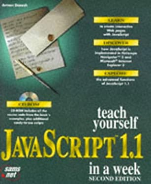 Teach Yourself Javascript 1.1 in a Week (Sams Teach Yourself)