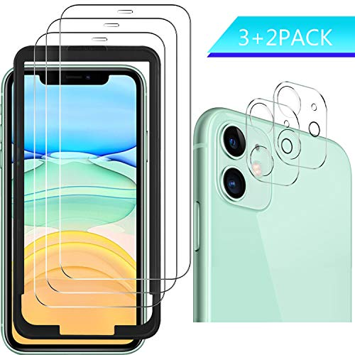 Luibor für iPhone 11 Panzerglas+Kamera Panzerglas (6.1 Zoll),Transparent Anti-Kratzer Anti-Staub Anti-Öl Anti-Bläschen Gehärtetem Glas Displayfolie Schutzfolie für iPhone 11