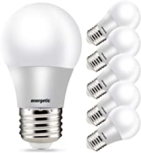 A15 Refrigerator Bulbs 40 Watt Equivalent LED Appliance, Daylight 5000K, Dimmable, UL Listed, 6 Pack