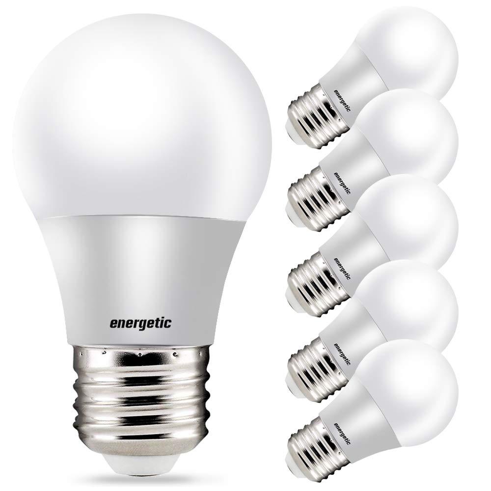 Amazon Com A15 Refrigerator Bulbs 40 Watt Equivalent Led Appliance Light Bulbs Daylight 5000k Dimmable E26 Base Ul Listed 6 Pack Home Improvement