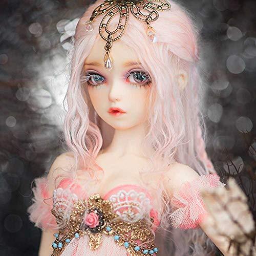 ZDD Giunto Mobile 40cm 1/4 Dolls Mini Bjd Doll Giocattolo per Bambole per Capelli Nudi di Donne Corpo di Capelli Rosa per Regalo di Ragazze - Alicia Elves