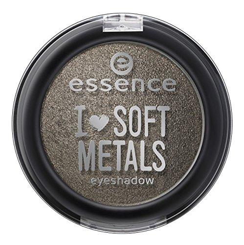 Essence I Love Soft Metals Ombre à paupières cuite à la texture crémeuse et un effet irrésistible pour un maquillage des yeux intense et lumineux, n°0