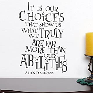DigTour WallArt It is Our Choices Custom Vinyl Inspirational Wall Decal Harry Potter Quote Albus Dumbledore Saying Words W...