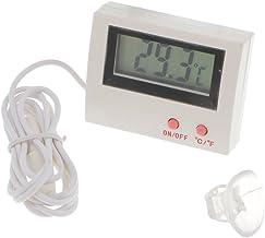Gazechimp Mini Termómetro de Plástico Externo de Paneles LCD Termómetro de Sensor Resistente a Humedad de Acuario de Piscina de Horno