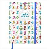 Tiddler tracker - Premiato premiato 'Baby Tracking Journal' Diario giornaliero di dieta, sonno e cambio pannolino | Diario di lusso per bambini | Libro unico delle nascite | Design: robot