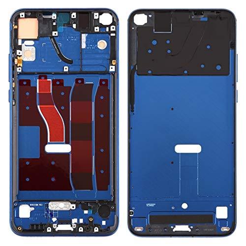Kit de reparación de teléfono móvil Carcasa frontal LCD Marco Bisel Placa con teclas laterales para Huawei Honor V20 (Honor View 20) (negro) Pieza de repuesto (Color: Azul)