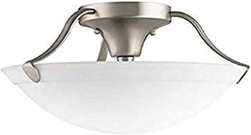 wholesale Kichler outlet sale 3627NI Semi-Flush 3-Light, online Brushed Nickel outlet online sale