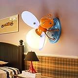 BINJG Kreative LED Kinder Wandleuchte Biene Wandlampe Junge Mädchen Schlafzimmer Nachttischlampe Persönlichkeit Kinderzimmer Dekoration Lampen Länge 25cm, Breite 28cm, Höhe 17cm