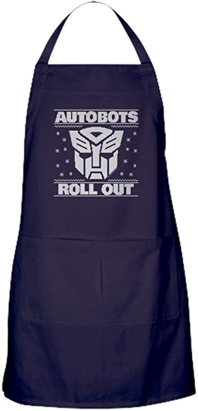 CafePress Transformers Autobots Roll Out Kitchen Apron With Pockets Grilling Apron Baking Apron