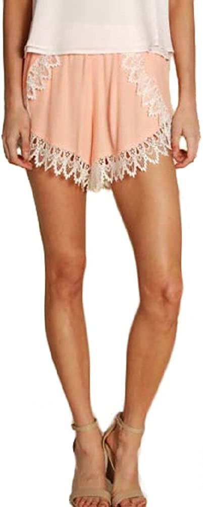 Lucy Love Women's Scallop Lace Shorts 100% quality Super Special SALE held warranty
