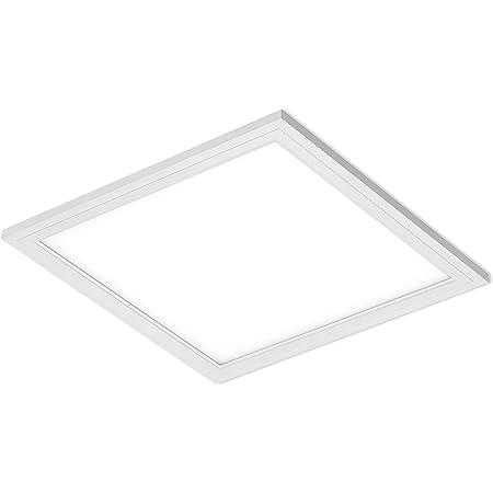 Briloner Leuchten Plafonnier LED puissant carré en blanc – Panneau LED 12 W, 29,5 x 29,5 cm – Couleur de lumière blanc neutre – Idéal pour salon, bureau ou atelier