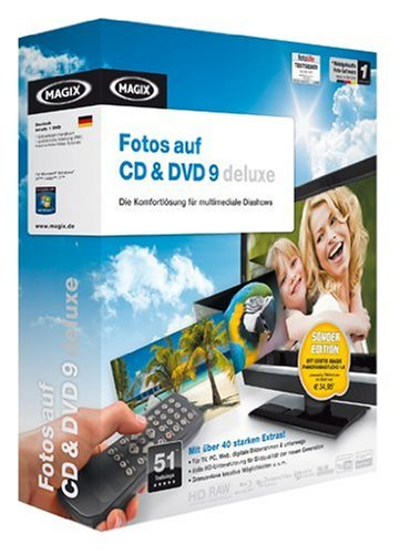 MAGIX Fotos auf CD & DVD 9 deluxe SONDEREDITION Minibox