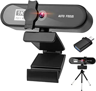 LucaSng 1080p Webcam with Microphone USB HD Web Camera with Privacy Cover and Tripod for Zoom Skype Teams Online Teaching ...
