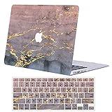 ACJYX Hülle für MacBook Air 13 Zoll 2020 2019 2018 Freisetzung A2179/A1932, Plastik Hartschale Schutzhülle Case und Tastaturschutz für MacBook Air 13,3 Zoll Touch ID,Rosa Marmor
