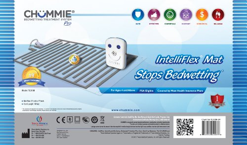Chummie Pro Bedside Bedwetting Alarm for Children, Teens Adults and Deep Sleepers – Comfortable and Effective Bedwetting Treatment System, Blue