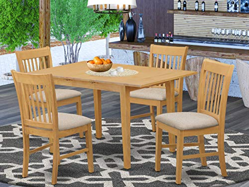 5 Pc dinette set for small spaces - Table and 4 Dining Table Chairs