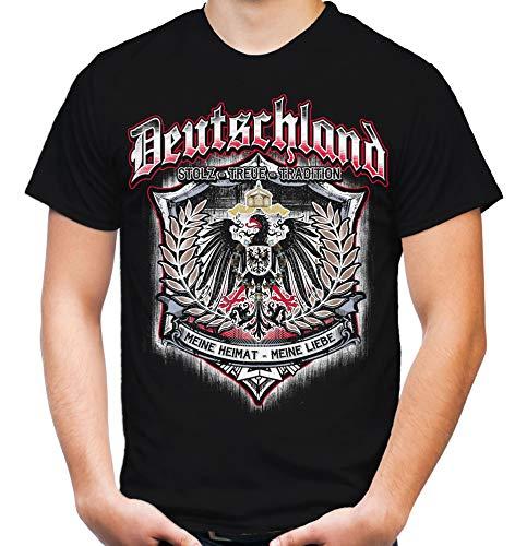 Für Immer Deutschland Männer und Herren T-Shirt | Kaiserreich Germania Preußen (XL, Schwarz)