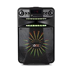 top 10 qfx bluetooth speaker QFX PBX-1210 Light effect smart APP speaker