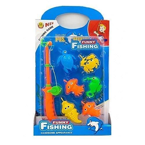 Lively Moments Angelspiel / Fischspiel / Spielzeug für Kinder mit Lustigen Meerestieren in der Box