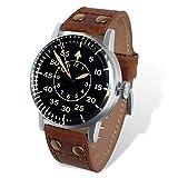 Reloj Vintage Segunda Guerra Mundial - Alemán Luftwaffe (Réplica histórica Modelo B-Uhren aviación Alemana II Guerra Mundial
