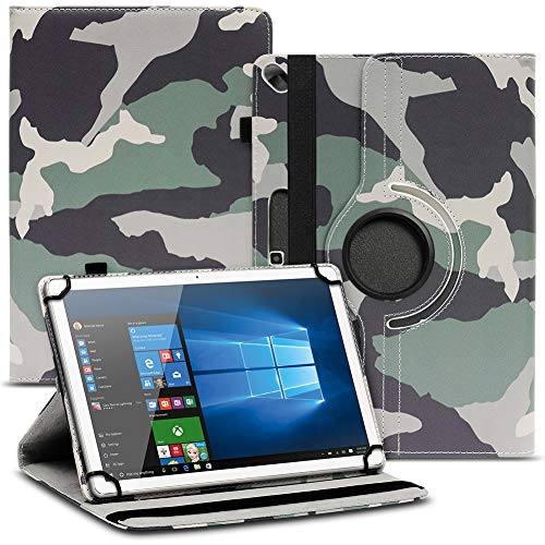 Nauci Tablet Schutz Hülle kompatibel für Archos 101 Oxygen Schutzhülle Kunst-Leder 10.1 Zoll 360° Drehbar Cover Universal Hülle, Farbe:Motiv 12