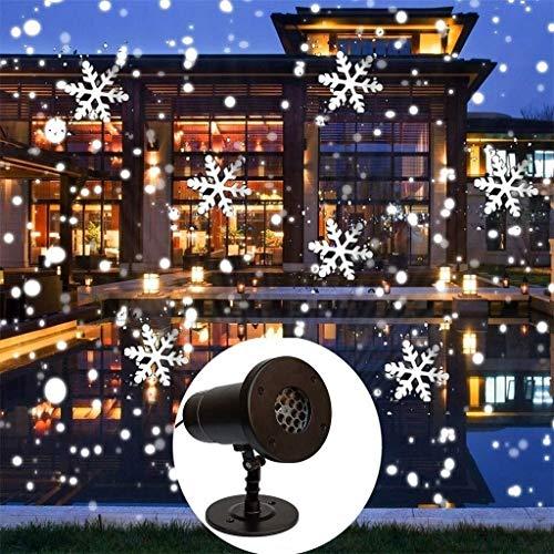 ZSMPY Proyector LED Enciende El Proyector Del Copo De Nieve Nevadas Impermeable De La Lámpara De Proyección Con Control Remoto Inalámbrico Nieve Paisaje Decorativo Del Proyector De Cubierta De Hallowe