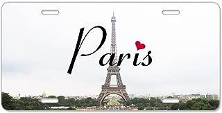 CafePress Paris Aluminum License Plate, Front License Plate, Vanity Tag