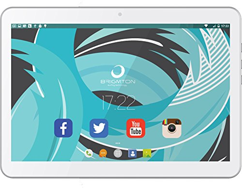 Brigmton BTPC-1021QC3G-B - Tableta de 10' (SC7731 Quad Core 1.3 GHz, disco duro de 16 GB, 1 GB de RAM, 3G, Android 5.0) blanco