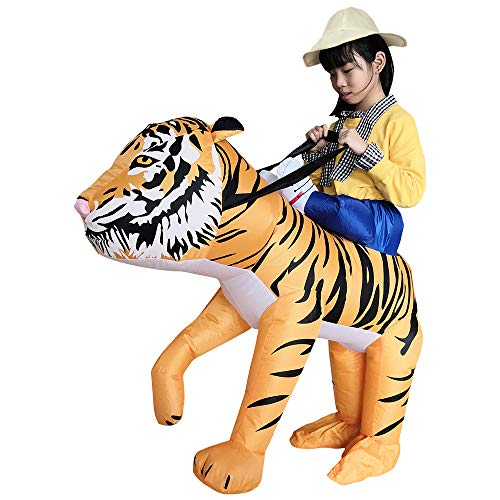 shjklb Disfraces inflables de Tigre para niños Disfraces de Cosplay de Halloween Traje de Gaint para Audlts, Disfraz Inflable Divertido Traje de explosión Disfraz de Cosplay Disfraz de Cosplay Adulto
