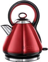 Russell Hobbs Legacy vattenkokare, 2400W, 1,7 l, innovativt handtag, snabbkokningsfunktion, perfekt hällpip, röd, 21885-70