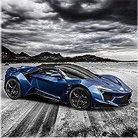 ダイヤモンドの絵画 フルスクエア/ラウンドドリル5Ddiyダイヤモンドペインティング「レーシングカーの風景」3D刺繡クロスステッチ5D家の装飾ギフト
