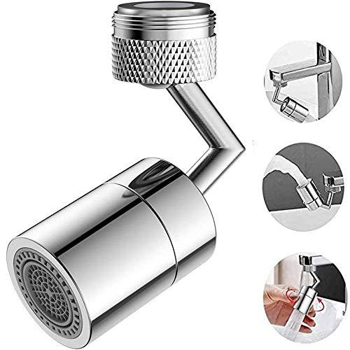 Nuovo rubinetto universale con filtro antispruzzo testina spruzzatore girevole a 720° schiuma anti-schizzi,arricchita ossigeno, filtro rete 4 strati, attacco per prolunga del rubinetto (1pcs)