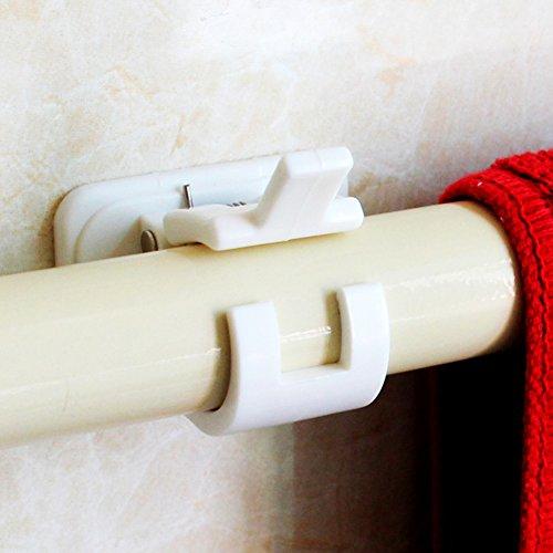 Soporte para varilla de cortina, ganchos autoadhesivos Poste de soporte de varilla...