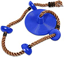 REDCAMP Climbing Rope Swings for Trees, Heavy Duty Plastic Disc Swing Seat for Kids and Adults with Hanging Strap and...