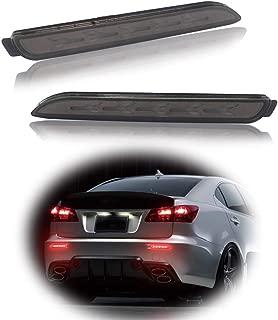 GTINTHEBOX 3D Optic Fish Bone Style Smoked Lens LED Rear Bumper Reflectors Brake Tail Lights Lamps For Lexus RC250 RC350 IS-F GX470 Toyota REIZ Sienna Matrix Venza Avalon