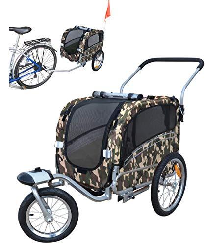 Fahrradanhänger Polironeshop Argo, Anhänger und Wagen für den Transport von Hunden, Camo, Small