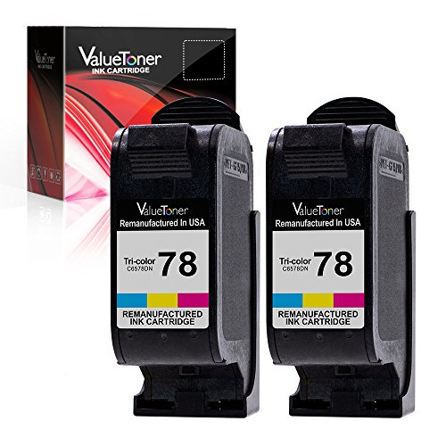Valuetoner Remanufactured Ink Cartridge Replacement For Hewlett Packard HP 78 C6578DN (2 Tri-Color) 2 Pack